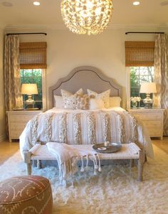 beautiful and serene bedroom