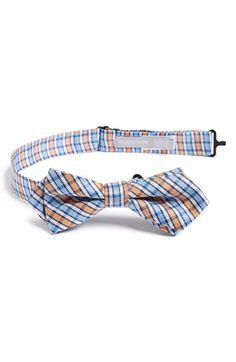 Toddler Boy's Nordstrom 'Pixel Plaid' Silk Bow Tie - Orange