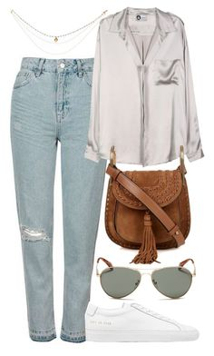 """""""Untitled #5418"""" by rachellouisewilliamson on Polyvore featuring Topshop, Lanvin, TOMS, Common Projects and Chloé"""