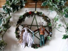 Pagan Handfasting wreath handmade by positivelypagan.com