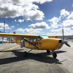 Hailed a big yellow taxi in #Vanuatu  Explore the outer islands of Vanuatu from Espiritu Santo with Air Taxi!