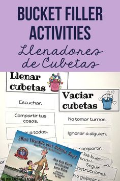 ¿Has Llenado una Cubeta Hoy? By Carol McCloud. is the perfect book to teach your students how to be kind and respectful. This bucket filler activities resource is in SPANISH and has everything you need to teach your students all about bucket fillers and bucket dippers. It includes a bulletin board craft, printables, sorts, activities and images for anchor charts. This resource is perfect for preschool, kindergarten, first grade or any bucket filling classroom. All activities in Spanish!