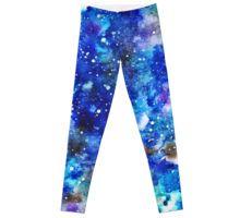 'watercolor night sky' Leggings by EkaterinaP Night Sky Stars, Night Skies, Watercolor Night Sky, Gothic Leggings, Galaxy Leggings, Womens Workout Outfits, Artwork Prints, Printed Shirts, Fit Women