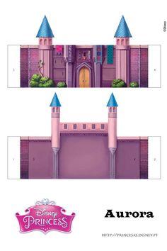 Castle - page 3 of 5 Sleeping Beauty Castle, Aurora Sleeping Beauty, Chateau Princesse Disney, Masha Et Mishka, Disney Princess Castle, Sofia The First Birthday Party, Aurora Disney, Paper Pop, Putz Houses