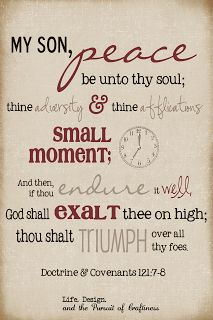 Life.Design. and the Pursuit of Craftiness: Scripture Word Art: D 121:7-8