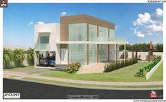Planta de Sobrado - 3 Quartos - 250.47m² - Monte Sua Casa