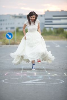 Trash the dress / Splash the dress with colours