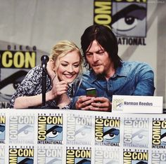 Emily & Norman during The Walking Dead panel, Day 2, SDCC