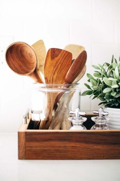 Kitchen Utensils// Earlywood Designs// Photo by: pinchofyum.com