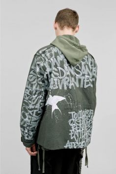 TAG CANVAS PARKA HANDPAINTED BY VINCENT DACQUIN - A Blog About.....Nothin'