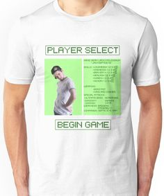 Jacksepticeye Player Select Screen Unisex T-Shirt