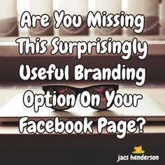 Are You Missing This Surprisingly Useful Branding Option On Your Facebook Page?  If you are a Business Owner, then you probably join me in appreciating the power of Facebook and Social Media for Networking.  In my blog post I show you how you can use a feature on your Facebook Page to keep some of your content available to your readers... without it disappearing down your timeline.