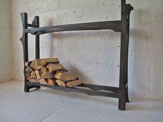 Firewood rack Burned elm