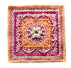 Ravelry: MamaMellie's Flower and Trebles Square