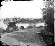 Potts Point from top of the path of the Domain in Sydney (year unknown).