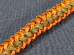 How to make a Two (2) Color Zipper Sinnet Paracord Bracelet (Paracord 101)