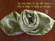 Purple Chocolat Home: Irish GreensTablescape and Rose with Leaves Napkin Tutorial