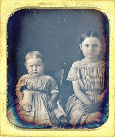 Daguerreotype of Sisters  Doll (Cleaned Glass) by Mirror Image Gallery, via Flickr