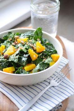 kale, beet and tahini salad
