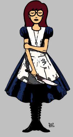 Daria vs. Alice by ~Cerberus071984 on deviantART
