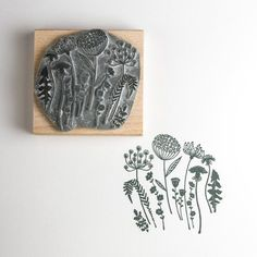 This distinctive flower stamp was inspired by the wild flowers of the South Downs, its a very useful stamp for all sorts of cards. I have stamped