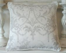 """Laura Ashley Tuileries  dove grey  Fabric Cushion Cover Piped 16"""""""