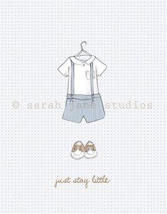 Children's Wall Art Print Just Stay Little by sarahjanestudios, $26.00