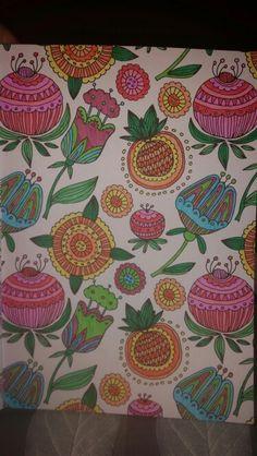 Kleurplaat patroon, kleurboek Action Paars