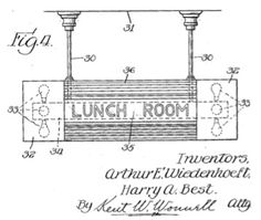 Patent design filing for the H. A. Best Lamp Company