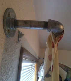 Get Rich or DIY Tryin': Industrial Pipe Curtain Rod