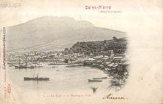La rade de Saint-Pierre et la montagne Pelée (avant l'éruption de 1902).