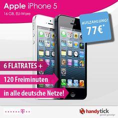 Telekom Complete Mobile M Friends mit iPhone 5 + 77,-€ Auszahlung Junge Leute Tarif