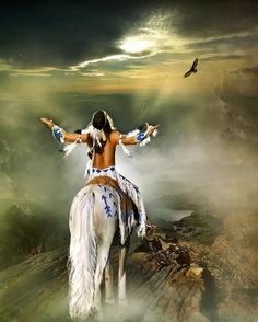 """American Indian on His White Painted Pony: """"I Will Fight No More Forever!"""" (By Chief Joseph) Native American Spirituality, Native American Wisdom, Native American Beauty, Native American History, American Indians, Native American Tattoos, Native American Cherokee, Native American Paintings, Native American Pictures"""