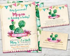 Holy Guacamole! Is there a new arrival on the way? Throw a Cinco de Mayo Baby Shower Fiesta. Your guest will LOVE this invitation set with diaper raffle card and bring a book card!  Psst... 10% Sale going on today Ole'!!