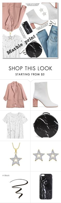 """""""Marble print"""" by paculi ❤ liked on Polyvore featuring Acne Studios, American Eagle Outfitters, CalPak, blazer and marble"""