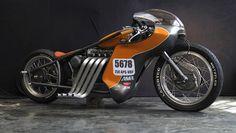 Nimbus goes to The Bonneville Salt Flats #motorcycles #bobber #motos | caferacerpasion.com