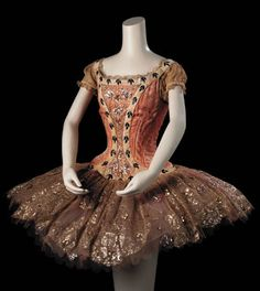 """The Sleeping Beauty"", (1969) Costume designed by Lila de Nobili (Performed by Margot Fonteyn)~Image via Christie's"