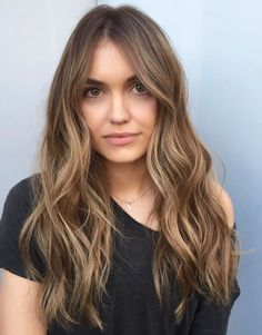 Flattering Balayage Hair Color Ideas for 2019 color . - hochzeit Flattering Balayage Hair Color Ideas for 2019 color . Brown Hair Balayage, Brown Blonde Hair, Brown Hair With Highlights, Hair Color Balayage, Soft Balayage, Dark Blonde, Blonde Brunette, Blondish Brown Hair, Light Brunette Hair