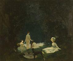 """""""Nude Bathers"""", Oil by Everett Shinn"""