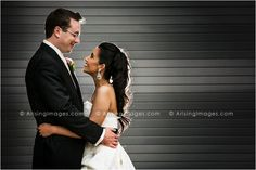 Perfect bride and groom shot in Ann Arbor, MI. Great lighting, lots of contrast and a wonderful couple. #wedding #photography #michigan #bride #groom
