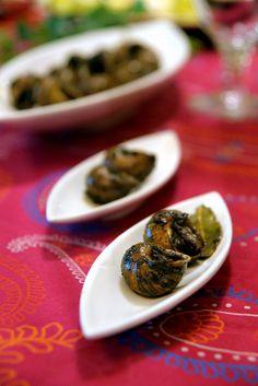 Caragols a la gormanta, especialitat de la cuina de Lleida.   Catalan food