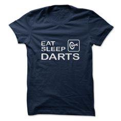 Eat Sleep Darts T-Shirts, Hoodies. BUY IT NOW ==► Funny Tee Shirts