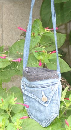 Casual Fridays An UpCycled Denim Mini Bag by TheCatCanDo on Etsy, $35.00