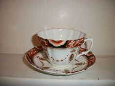 VINTAGE ROYAL ALBERT CROWN CHINA CUP & SAUCER #ROYALALBERT