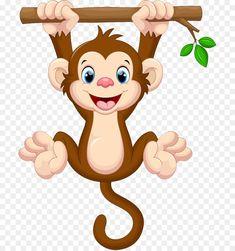 cartoon monkey with tail Cartoon Monkey, Monkey Art, Cute Monkey, Cute Cartoon, Frog Drawing, Drawing For Kids, Jungle Animals, Baby Animals, Cute Panda Wallpaper