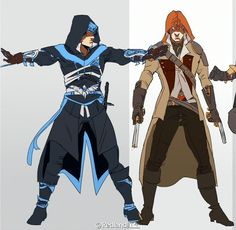 Nightwing and Redhood Assassin's Creed cosplay