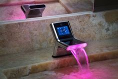 Futuristic and Stylish Bathroom Faucet Design with LED lighting