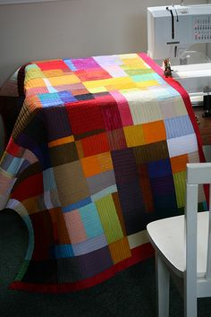 Reminds me of one I had that Grandma F had made with colourful vintage fabric, but got lost by my ex-boyfriend :(