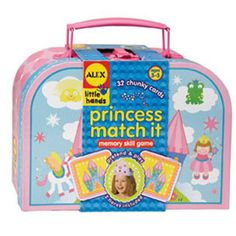 $16.99 - Every little girl dreams of being a princess.• Princess Match It is a princess-themed memory skill game.• Has a cool suitcase for storage. • It includes 32 big chunky cards.• As well as two crowns for make believe! For 1–4 players. Interested in Educational Games? See ?em all here!