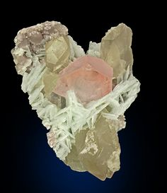 Beryl var. Morganite with Quartz & Albite.